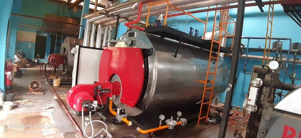 Steam boiler on the ships